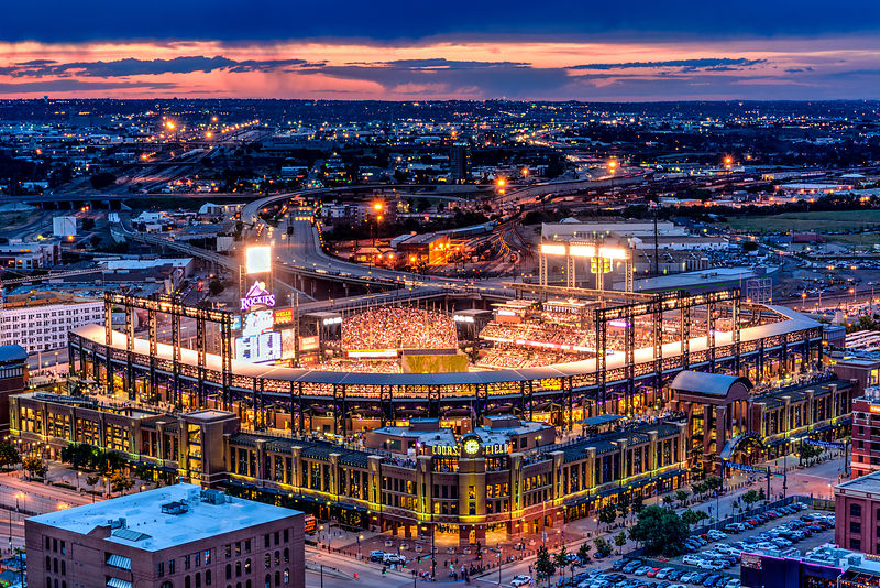 Coors Field at Sunset