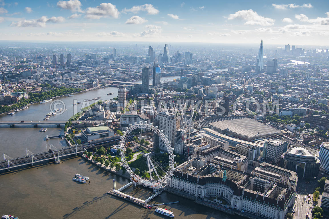 Aerial View Aerial View Of London Waterloo And London Eye