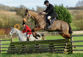 William Bevin jumping a hunt jump from the meet