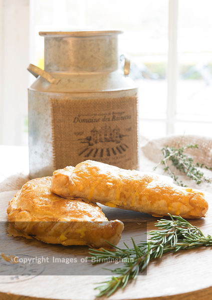 Pasty in rustic setting