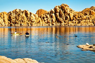Kayaking on Watson Lake in Prescott Arizona