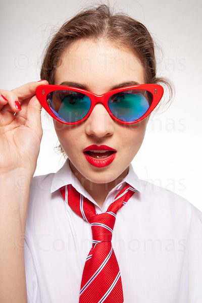 Cool teenager with glasses photos