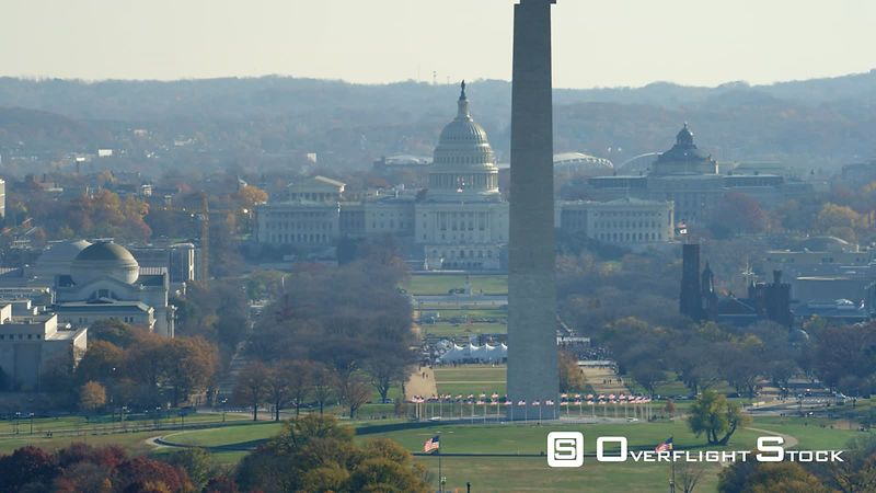Looking Down the National Mall Toward the Washington Monument and the Capitol, Lincoln Memorial Revealed.