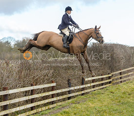jumping a fence at Burrough House