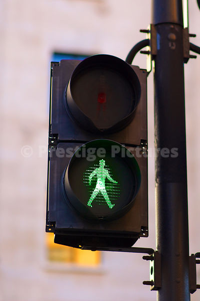 Pedestrian Lights Showing Green Man
