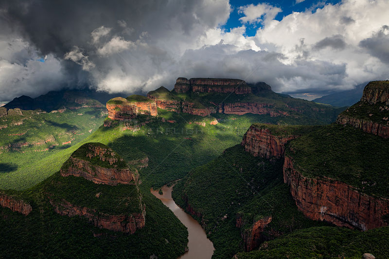 Stormy weather over Blyde River Canyon, Mpumalanga, South Africa. January 2011.