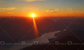 Sunset Slocan Lake Kootenays Canada