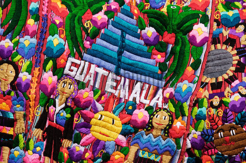 Tapestry at Market, Antigua, Guatemala