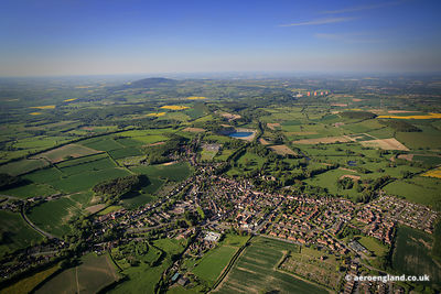 aerial photograph of Much Wenlock Shropshire England UK