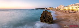 La Grande Plage beach at sunset, Biarritz, France
