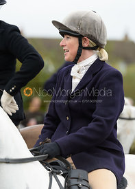 Caroline Stewart at the meet - Belvoir Hunt Opening Meet 2016.