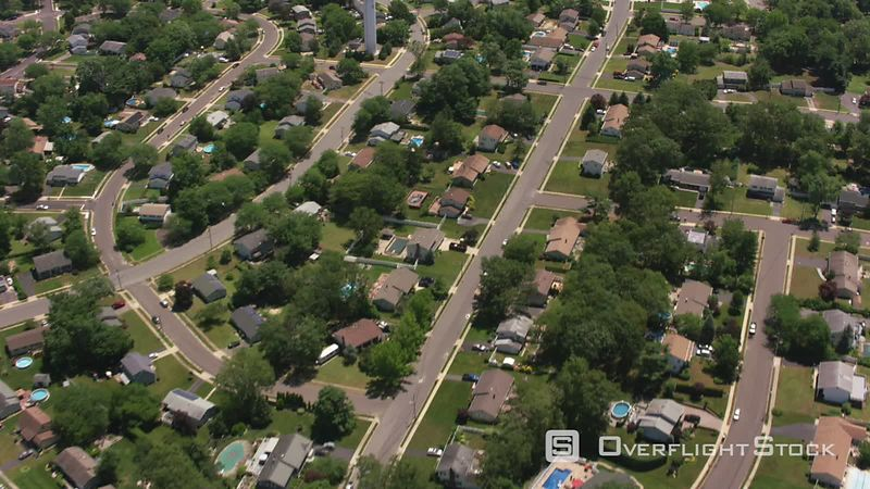 New Jersey Aerial view of home development in New Jersey.  Shot with Cineflex and RED EpicW Helium.