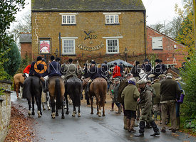At the meet - The Cottesmore at The Fox and Hounds