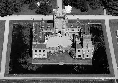 aerial photograph of Oxburgh Hall Norfolk England UK.
