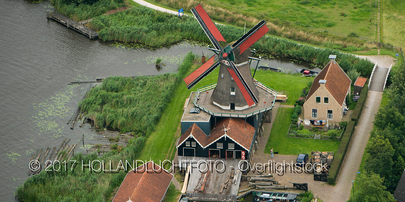 In IJlst  of Friesland Stands by the Rver Geeuw the Sawmill Called the Rat