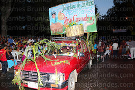 Decorated vehicle belonging to baker's union during parades, Tarija, Bolivia