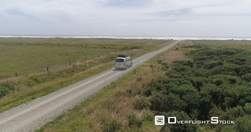 VW Bulli Kombi Back Road Drive New Zealand