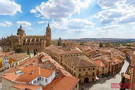Cityscape with view on the roofs, Salamanca, Spain