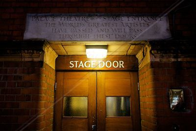Stage Door for The Palace Theatre at Cambridge Circus