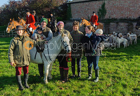 The meet at Vine Farm - The Quorn at Great Dalby 14-11-13