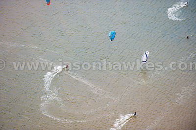 Kite Surfers, Exmouth, Devon
