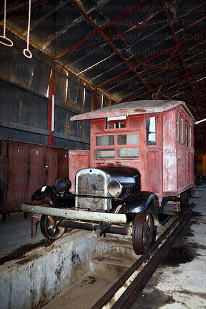 Historic railbus in National Railway Museum of Peru , Tacna