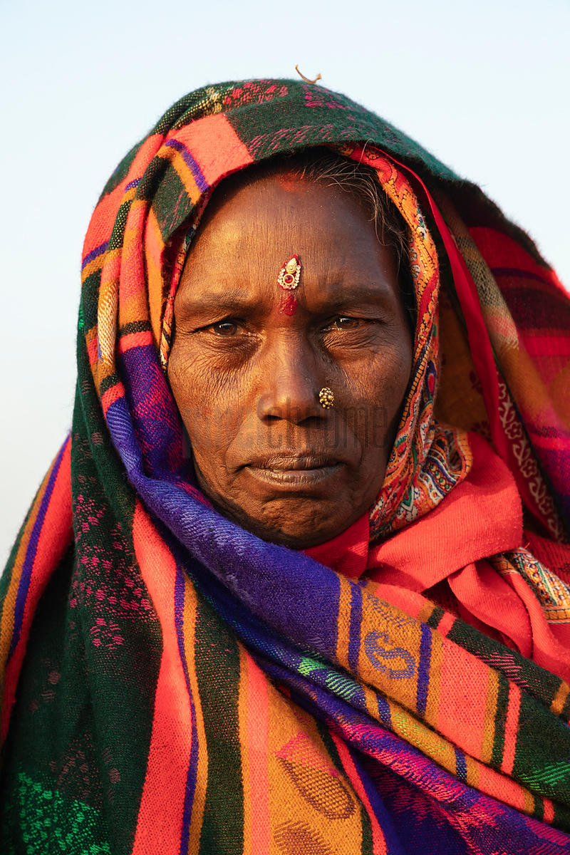 Portrait of a Woman from the State of Bihar