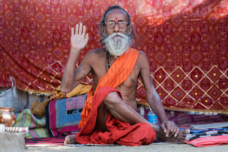 Portrait of a Sadhu with Glasses