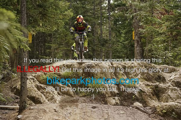 Saturday July 21st Aline Rock Drop bike park photos