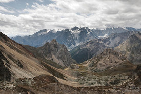 Ecrins mountain range seen from Maurienne massif