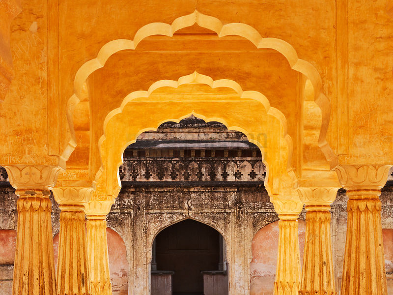 Architectural Details at the Amber Fort