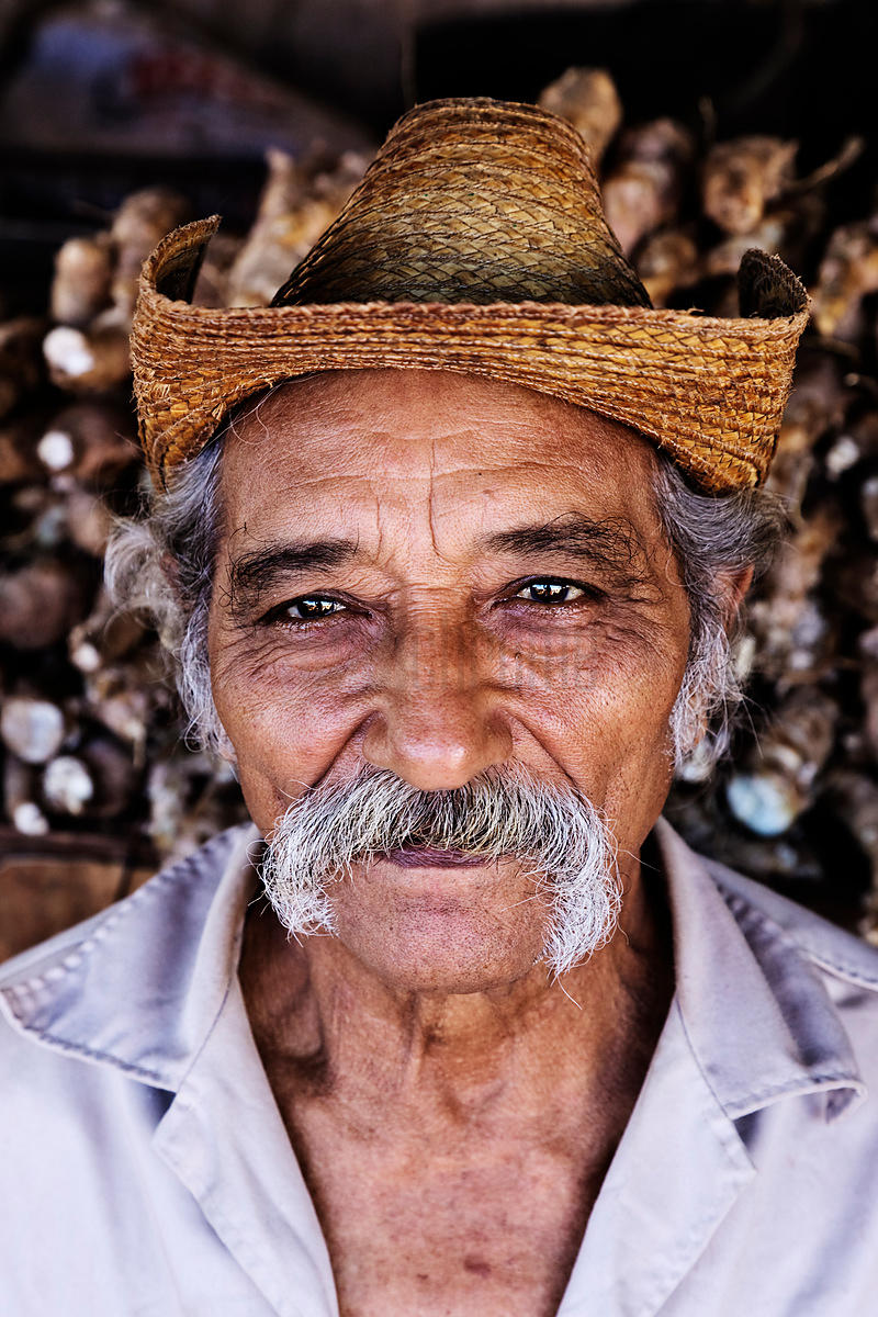 Portrait of Man in a Market