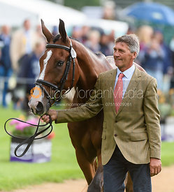 Andrew Nicholson and JET SET IV at the trot up, Land Rover Burghley Horse Trials 2018