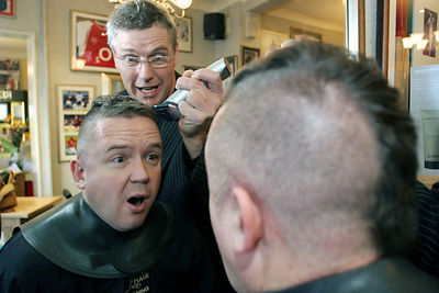 Charity Head Shave.  House of Hair.  Preston