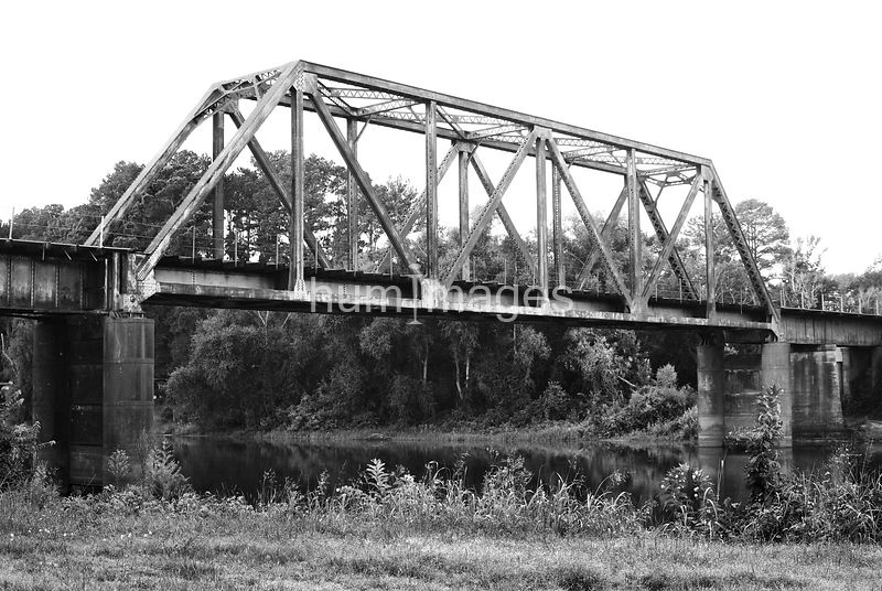 Old steel railroad bridge in Logansport, LA (above the Sabine River)