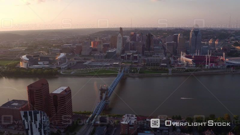 Aerial Footage of Cincinnati, Ohio