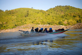 Speed boat to Luang Prabang, Laos