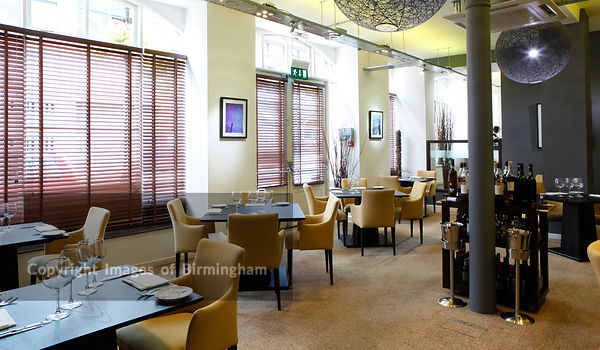 Purnells restaurant, 55 Cornwall Street, Birmingham. Owned by Glynn Purnell, Michelin starred chef.
