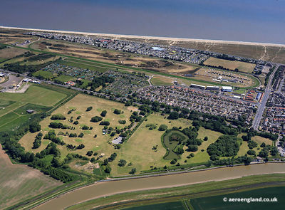 aerial photograph of Great Yarmouth and Caister Golf Club  Great Yarmouth Norfolk England UK