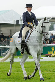 Olivia Wilmot and COOL DANCER - dressage phase,  Land Rover Burghley Horse Trials, 6th September 2013.