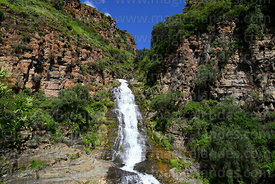 Upper waterfall of Chorros de Jurina waterfalls, Tarija Department, Bolivia