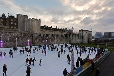 Christmas Skating at the Tower of London