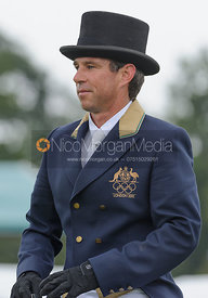 Sam Griffiths and HAPPY TIMES - dressage phase,  Land Rover Burghley Horse Trials, 4th September 2014.