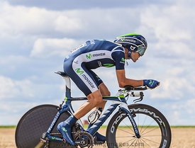The Cyclist Alejandro Valverde - Tour de France 2012