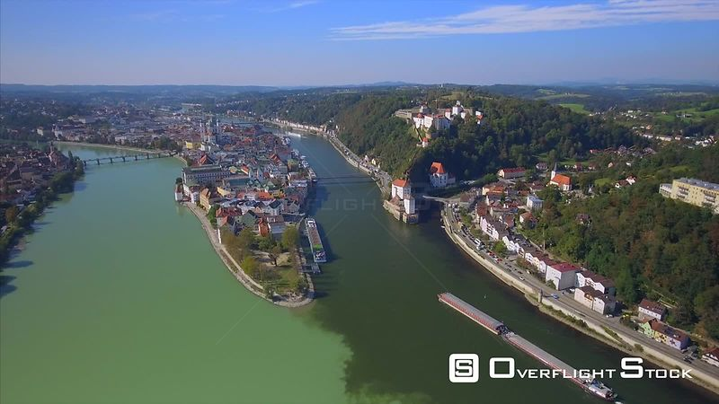 The City of Three Rivers Passau Bavaria Germany