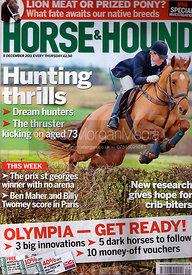Horse & Hound cover photography, 8th December 2011