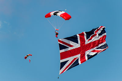 Red Devils parachute display
