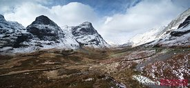 Three sisters peaks Glencoe Scotland UK