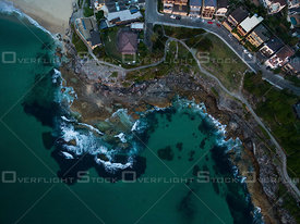 Tamarama Bay and headland at dawn. Tamarama & Bronte Beach, Sydney Australia