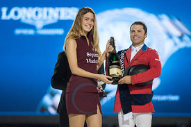 Kent Farrington (USA) prize giving ceremony at the CSIO Barcelona on 10.10.2014, Longines Cup of the City of Barcelona, Club Real de Polo, Barcelona, Spain